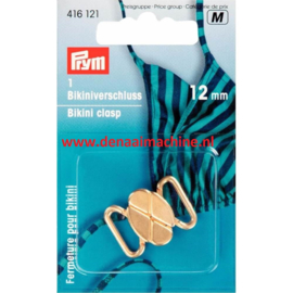 Prym bikini sluiting 12 mm goud kleurig