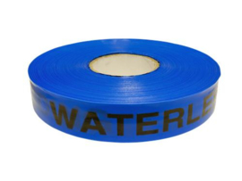 Waarschuwing  lint blauw  Waterleiding