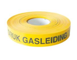 Waarschuwing lint geel Hogedruk Gasleiding