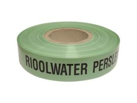 Waarschuwing lint groen Rioolwater persleiding