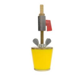 """Aansluitstop 1½"""" met kraan en pilaar 10mm"""