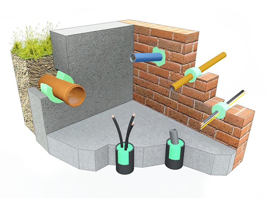 stopaq bkm-shop afdichting aquastop doorvoer lekkage kelder muurdoorvoer kabeldoorvoer mantelbuis waterdicht