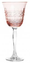 wijnglas PASTEL JULIA - powder pink - cross