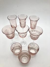 Champagneglas  PASTEL JULIA powder pink - cross