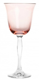 wijnglas PASTEL JULIA - powder pink - clear