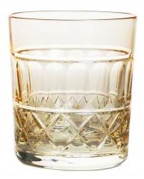 Whiskyglas  PASTEL JULIA  -  light yellow - cross
