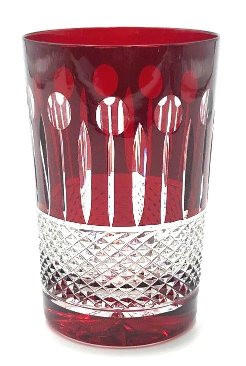 glaasje  CHRISTINE - ruby