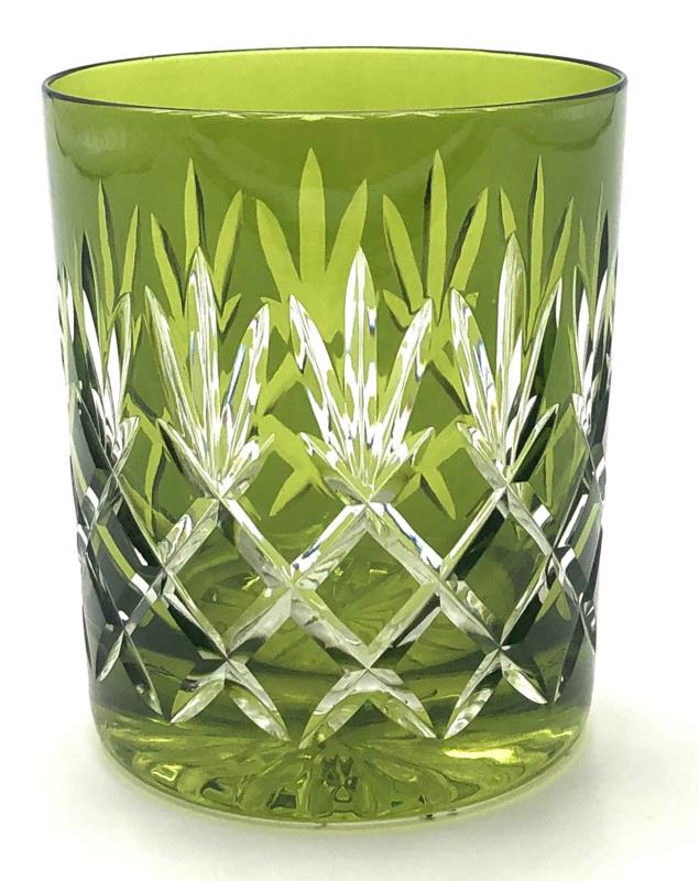 Waterglas/ whiskyglas EWA - green olive