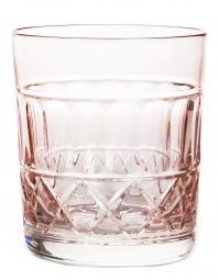 Whiskyglas PASTEL JULIA -  powder  pink  -  cross