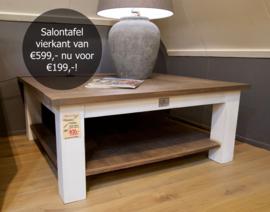 Landelijke salontafel 110x110