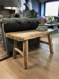 Stoere houten bank / tafel