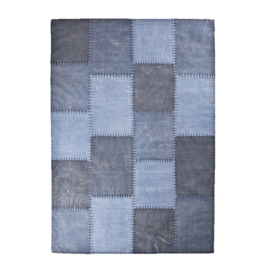 Carpet Patchwork Mono 200x290 cm - blue
