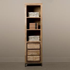 Smalle boekenkast 'Venice ' met 3 lades