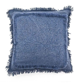 Kussen ByBoo Floret 45x45cm Blue