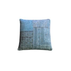 Kussen Patchwork 50x50 cm Turquoise