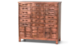 Ladenkast Copper