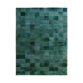 Carpet Patchwork Leather 160x230 cm - green
