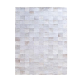 Carpet Patchwork Leather 160x230 cm - white