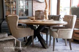 Eettafel met tafelblad ovaal