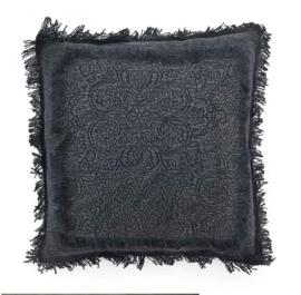 Kussen ByBoo Floret 45x45cm Black