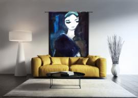 Wandkleed Lady in Blue