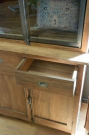 Teak iron cabinet