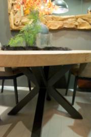 Eettafel ovaal met spinpoot