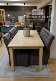 Eettafel natural teak