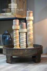 Ronde houten bak