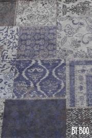 By-Boo Carpet Patchwork - dark blue 200x300 cm