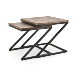 Tafel ByBoo Coffeetable Set Zig Zag