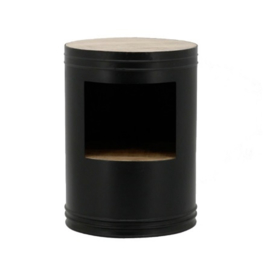 Tafel ByBoo Sidetable Barrel - Black