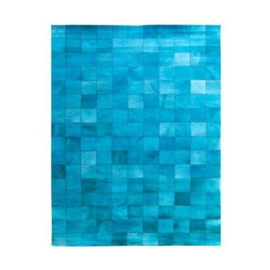 Carpet Patchwork Leather 160x230 cm - turquoise