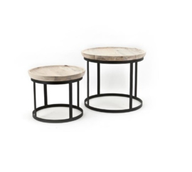 Tafel ByBoo Coffee Table Set Wood Metal