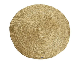 Carpet Jute round 120x120 cm- yellow