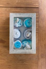 Cupcake doos jongens