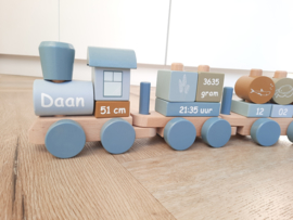 Trein blauw nieuwe model