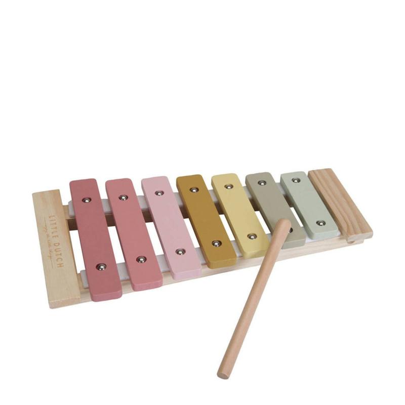 Xylofoon roze bedrukt