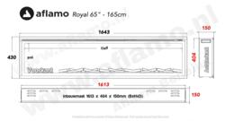 Aflamo Royal Paris 65 - elektrische haard 165cm