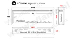 Aflamo Royal Paris 42 - elektrische haard 107cm