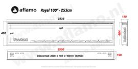 Aflamo Royal Paris 100 - elektrische haard 254cm