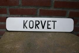 Emaille straatnaambord Korvet (art.nr. 116)