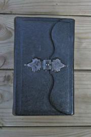 Het nieuwe testament uitgave 1909. Een mooi luxe bundel van zwart leer met een mooi versierde slot en goud rondom op snee