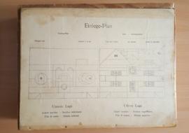 Oude houten blokkendoos