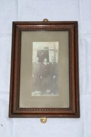 Oude houten Engelse fotolijst R. Jackson & Sons.