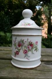 """Engelse pot met deksel, bloemmotief """"Old Foley"""" (art.nr. 099)"""