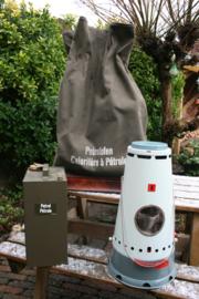 Petroleumkachel TURM L51 - Zeltofen,  TURM L51 Stove, Swiss Army -Tent heater compleet in rugzak met petroleumtank