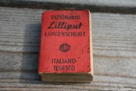 Dizionario Lilliput Langenscheidt woordenboekje no. 6 Italiano - Tedesco 1931