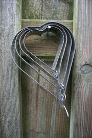 Set van 4 hartvormige bakvormpjes