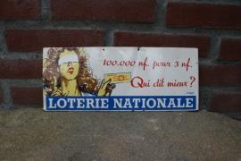 Reclame bordje Loterie Nationale (art.nr. 114)